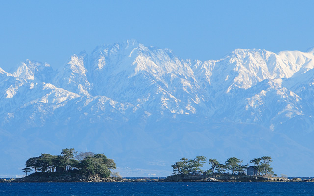 Tateyama Mountain Range from Himi City