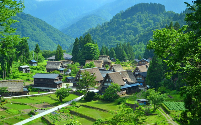 The UNESCO World Heritage Site Gokayama Historic Village of Gassho-style Houses